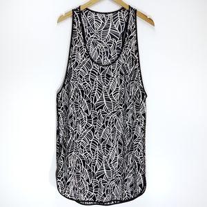 Lululemon | Costal Dress Pretty Palm Black Angel